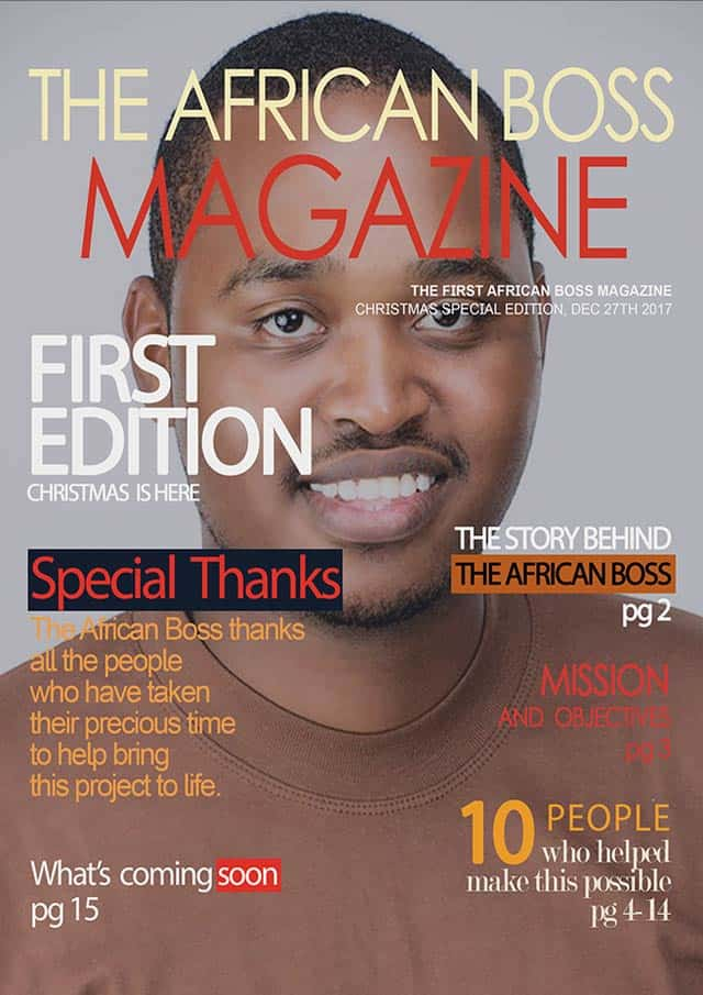 Thank you magazine Cover