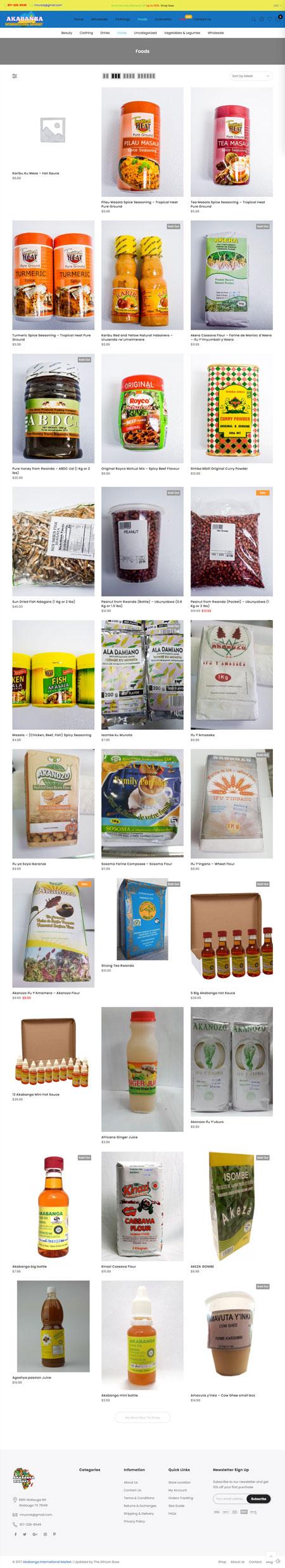 Akabanga Market website screenshot