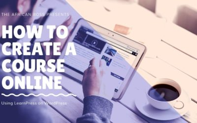 How to create and update a course online using LearnPress