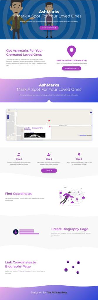 AshMarks website screenshot