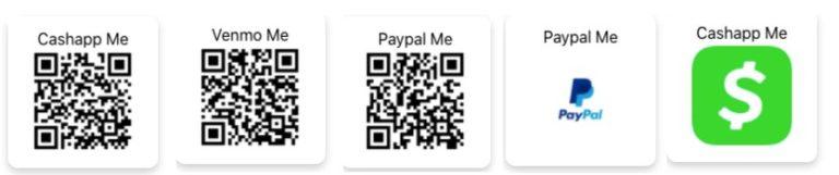 Get cash wordpress plugin buttons and qr codes